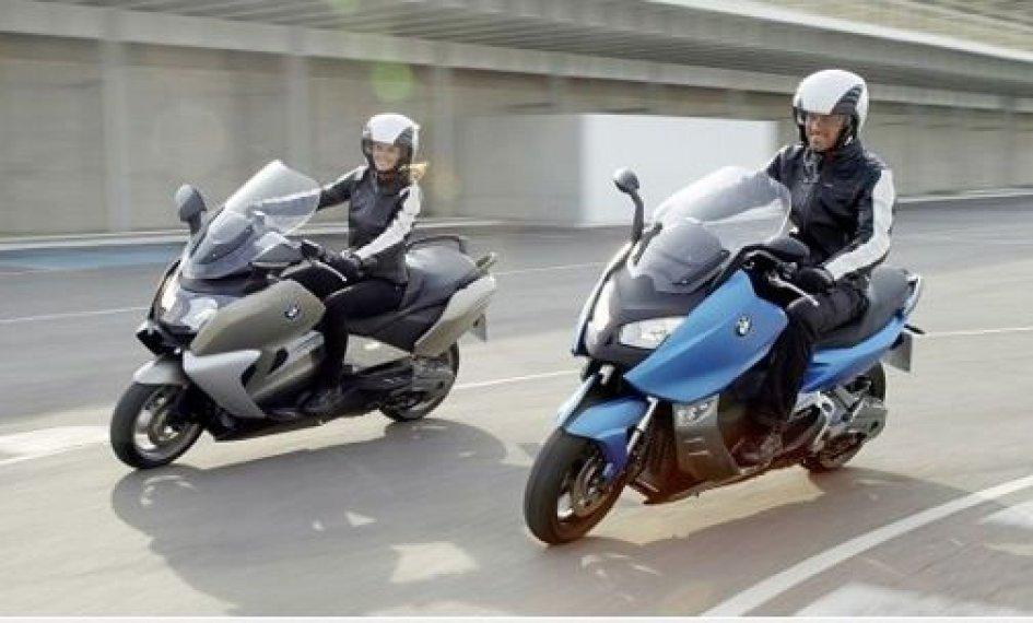 In pista a Vairano con gli scooter BMW