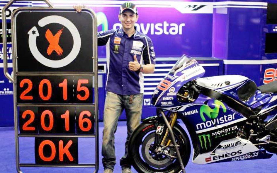 Lorenzo rinnova per due anni con Yamaha