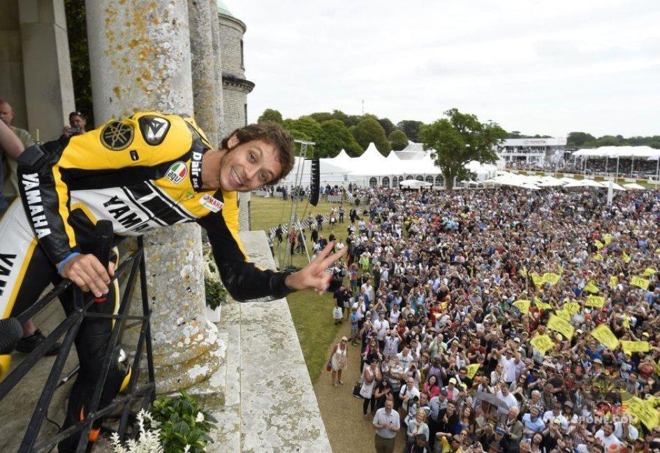 Valentino Rossi al Festival of Speed di Goodwood