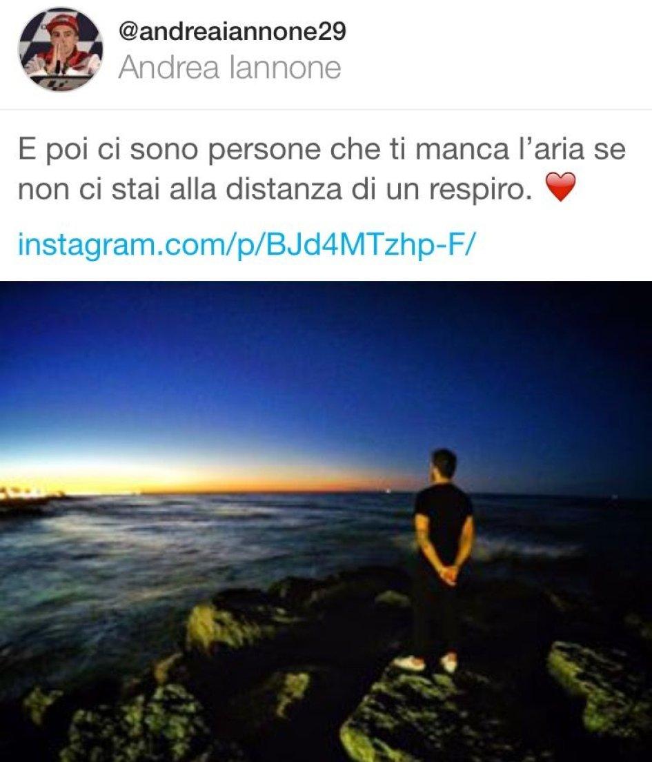 Andrea Iannone, the rider in love