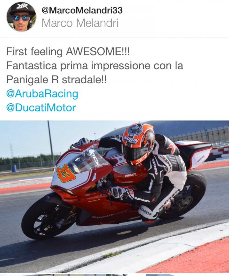 Melandri on twitter: Ducati Panigale is awesome