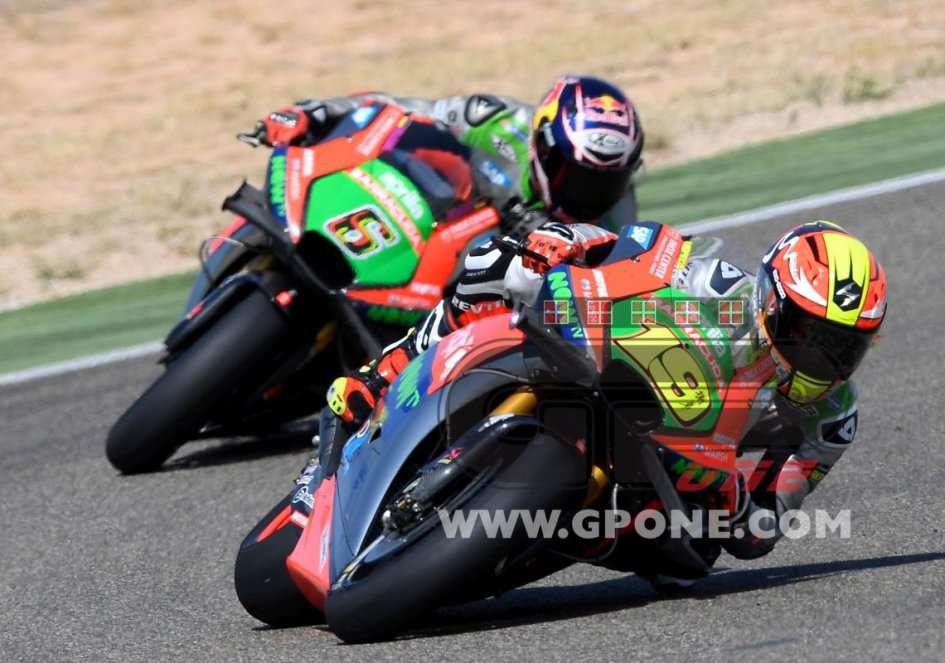 """Aprilia in front of the Ducatis: """"We're enjoying a positive phase"""""""