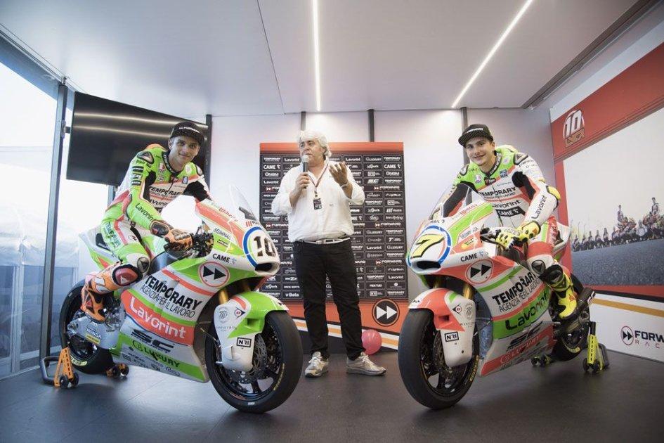 Moto2: Forward si veste con la bandiera italiana al Mugello