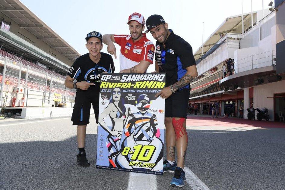 MotoGP: Migno, Dovizioso e Pasini svelano il poster del GP di Misano
