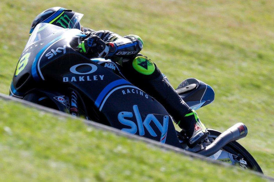 Moto3: FP1: Bulega primo con caduta, 2° Bastianini