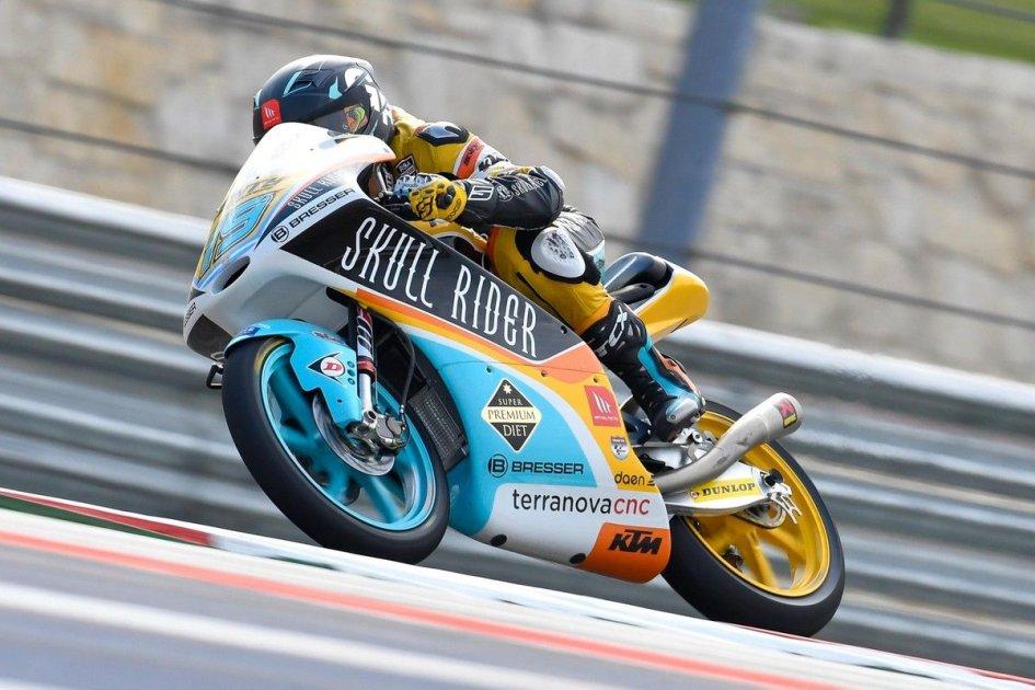 Moto3: WUP: Rodrigo beffa tutti ad Austin, 2° Di Giannantonio