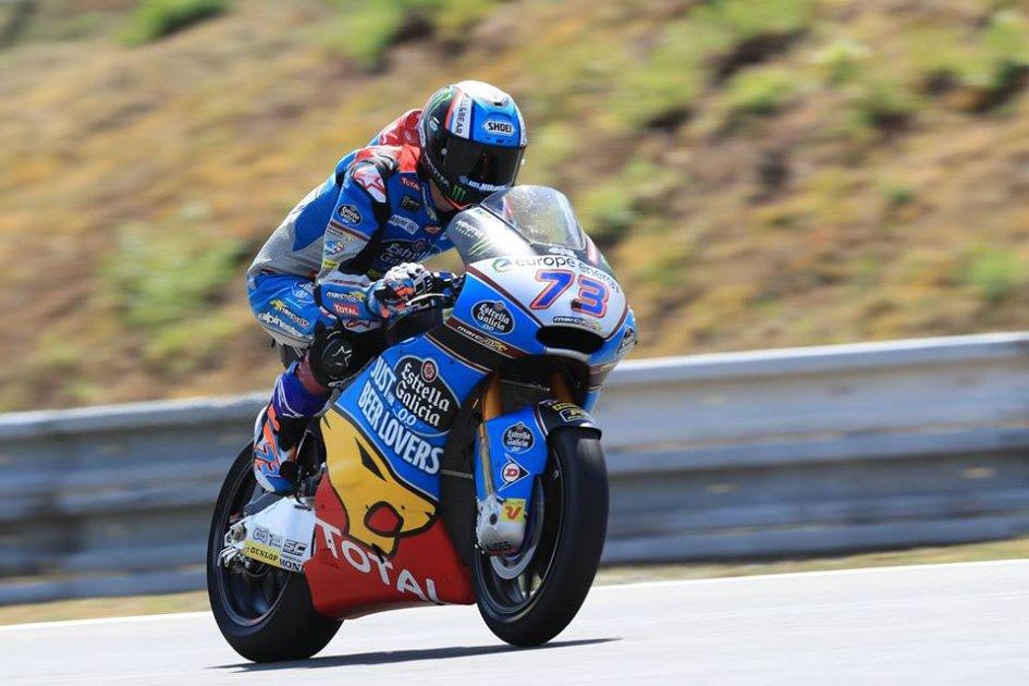Moto2: FP2: Alex Marquez anticipa la pioggia e piega Marini