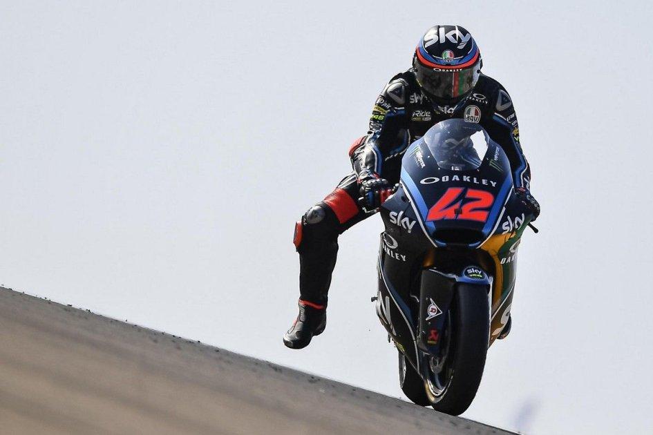 Moto2: Bagnaia e Corsi, due fulmini nel warm up di Aragon