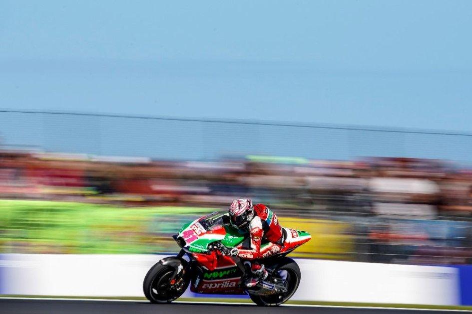 """MotoGP: A. Espargarò: """"Sfortunato a essere colpito da un pezzo della Honda di Marquez"""""""