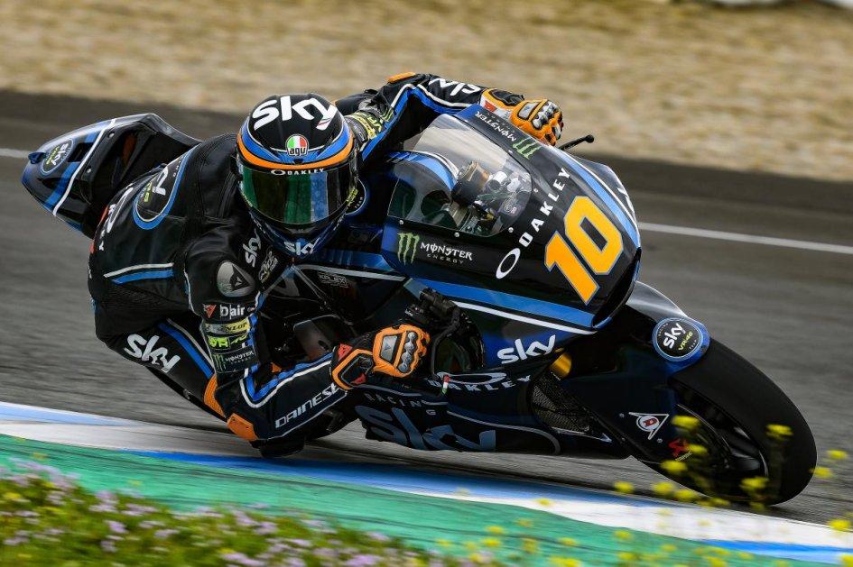 Moto2: Test Jerez: la pioggia rovina i piani, Marini resta al comando
