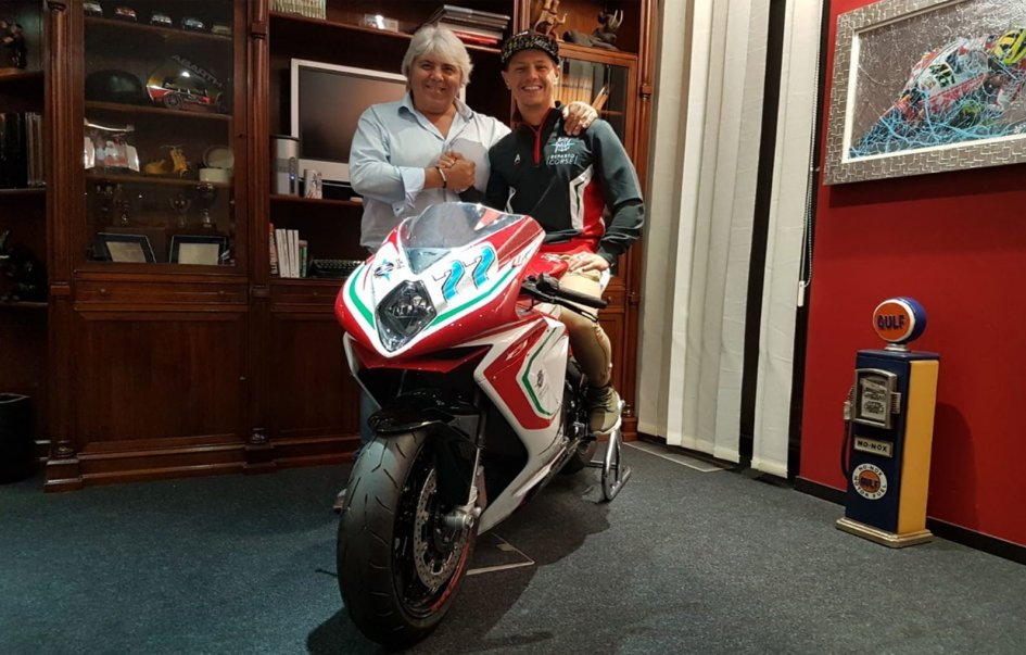 Moto2: Dominique Aegerter con la MV Agusta del team Forward nel 2019
