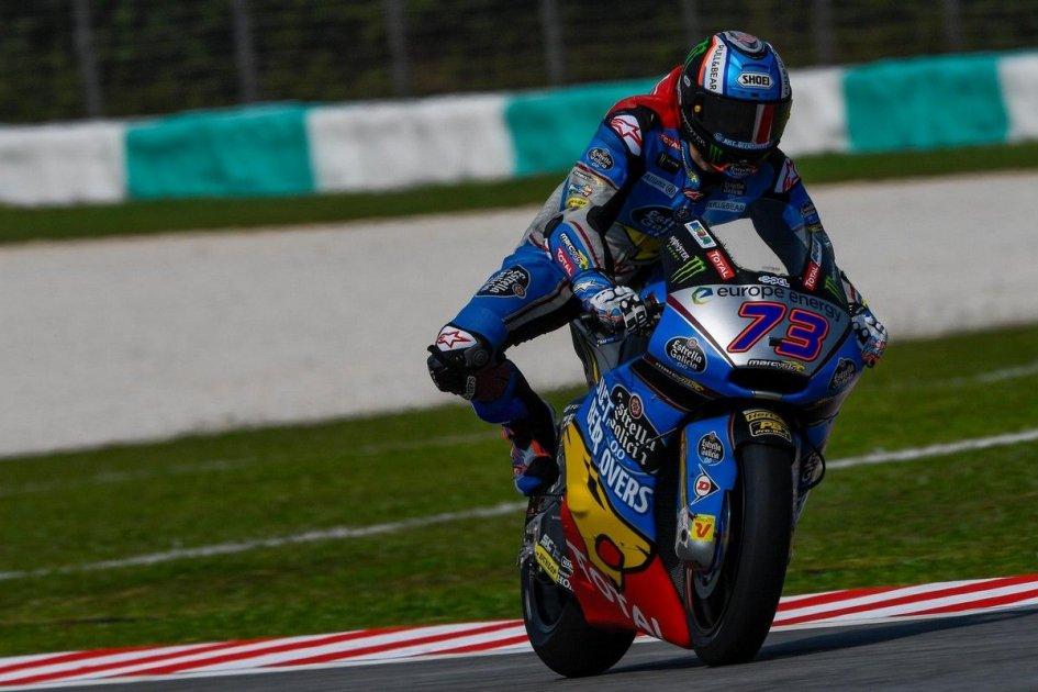 Moto2: FP3: Alex Marquez ancora al top a Sepang, Pasini 2°
