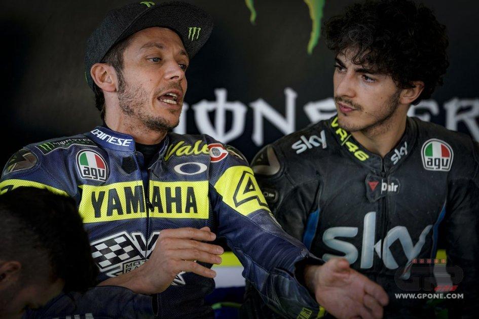 """Moto2: Rossi: """"Un consiglio a Bagnaia? Dai il massimo"""""""