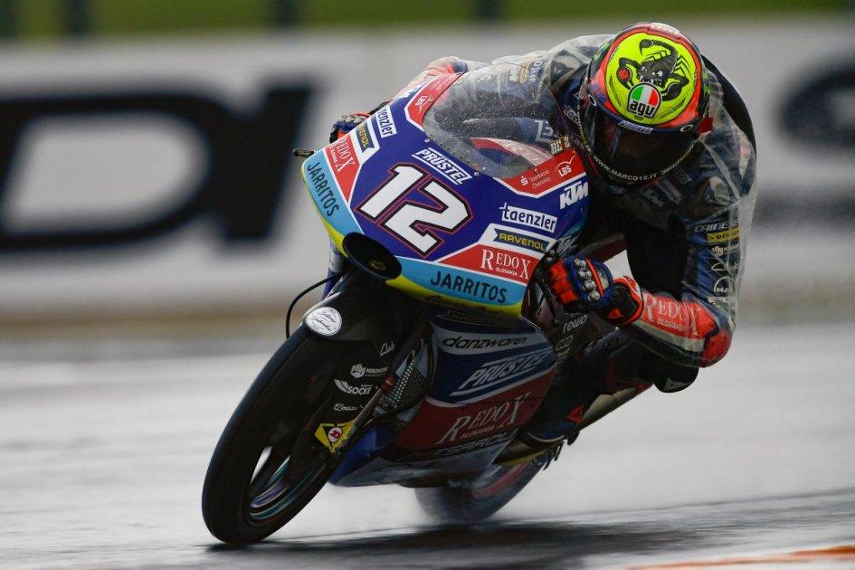 Moto3: Cinquina tricolore nel warmup, 1° Bezzecchi
