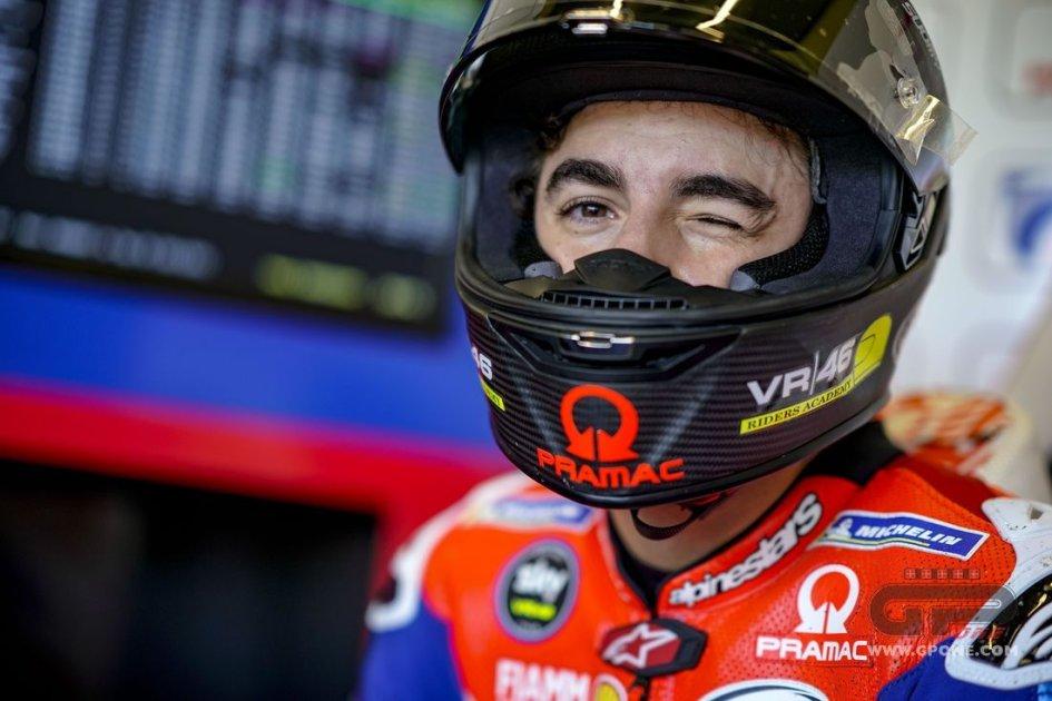 """MotoGP: Bagnaia 14° e contento: """"impossibile non esserlo su una Ducati"""""""
