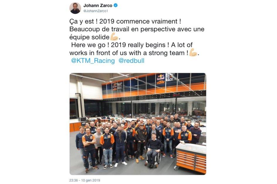 """MotoGP: Zarco: """"Il 2019 inizia sul serio, abbiamo tanto lavoro da fare"""""""