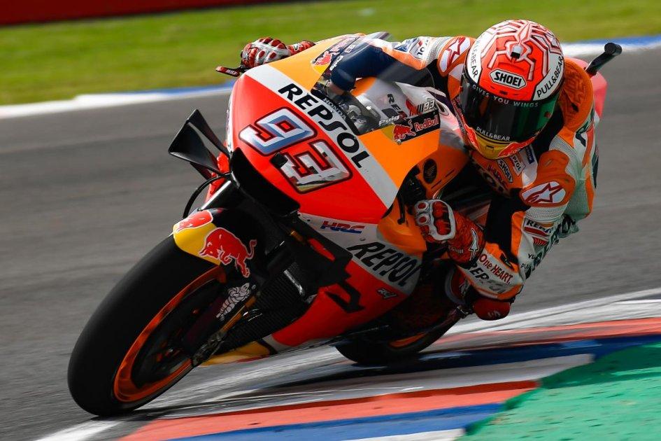 MotoGP: FP1: Marquez mette tutti in guardia, 10° Rossi