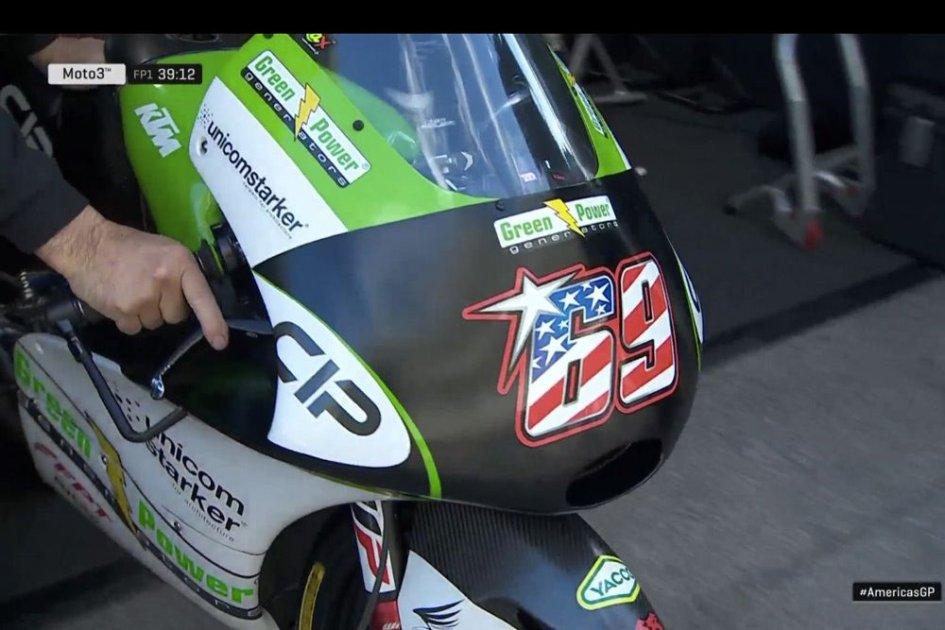Moto3: Booth-Amos omaggia Hayden con la sua grafica del 69