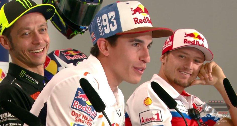 MotoGP: Marquez: la stretta di mano con Rossi? Come quando baci una ragazza!