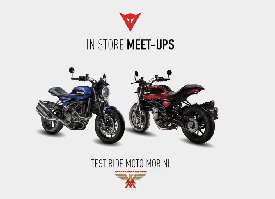News Prodotto: Dainese e Moto Morini, test ride a Roma