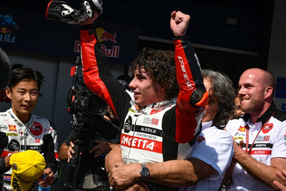 """Moto3: Antonelli: """"Per vincere ho superato i miei limiti"""""""