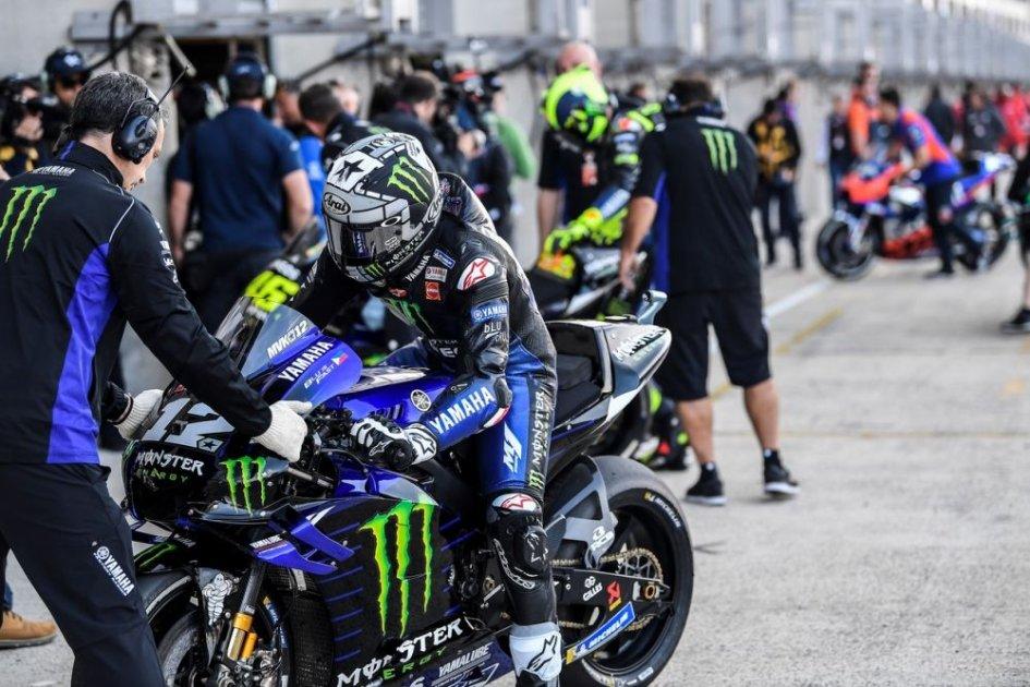 MotoGP: FP3: Vinales si conferma, la pioggia manda Rins e Rossi in Q1