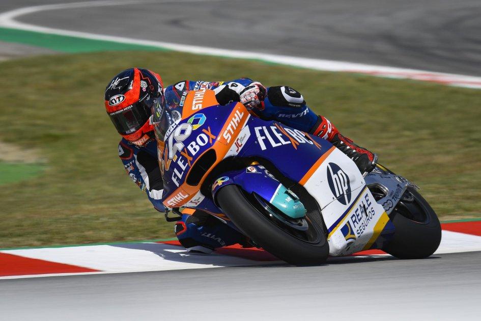 Moto2: Prima pole in carriera per Fernandez, 5° Di Giannantonio