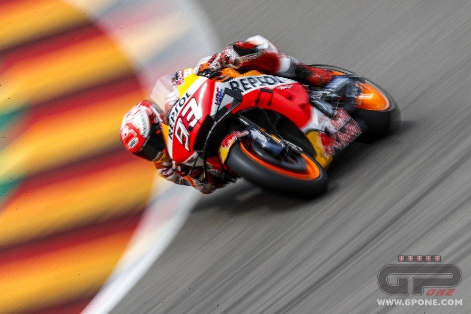 MotoGP: Sachsenring, WUP: Marc Marquez più forte anche del meteo