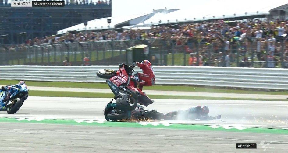 MotoGP: La sequenza della caduta di Dovizioso con Quartararo