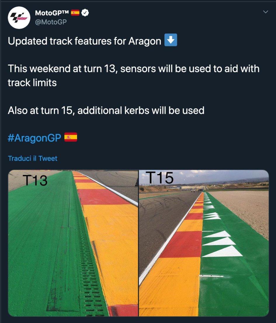 MotoGP: Aragon: sensori alla curva 13 per chi esce di pista