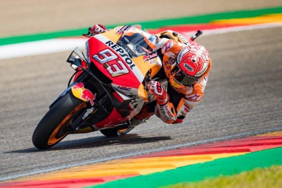 MotoGP: Marquez Re di Aragon, cuore Dovizioso, rimonta ed è 2°
