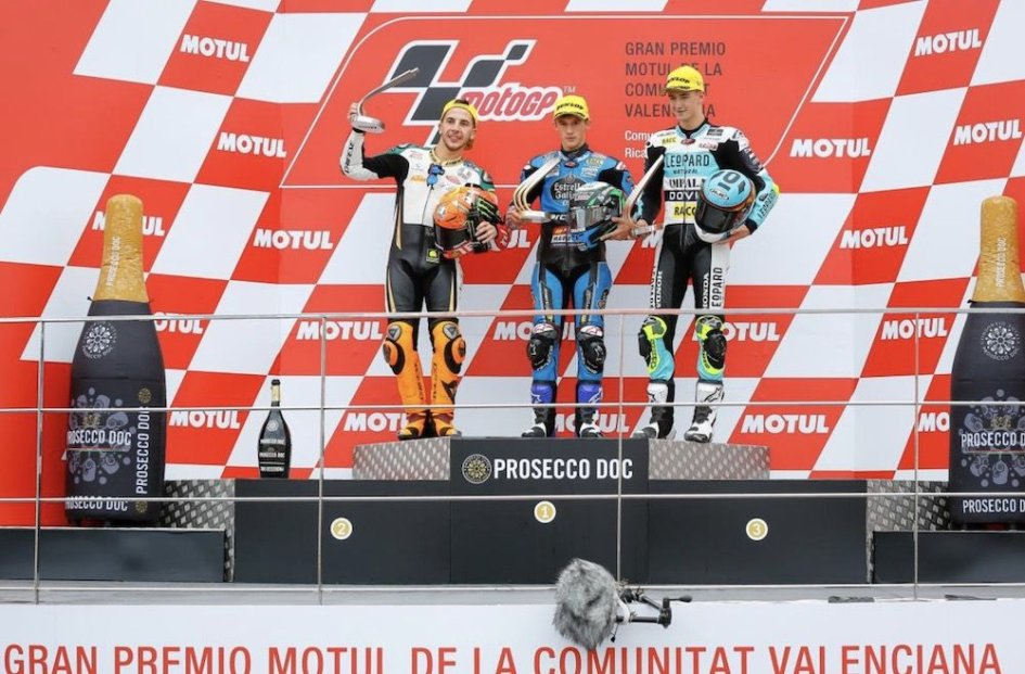 Moto3: A Valencia Garcia beffa Migno all'ultima curva