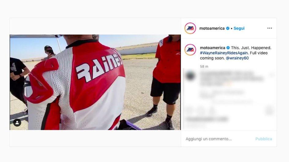 MotoAmerica: Wayne Rainey è tornato in sella ad una Yamaha in pista