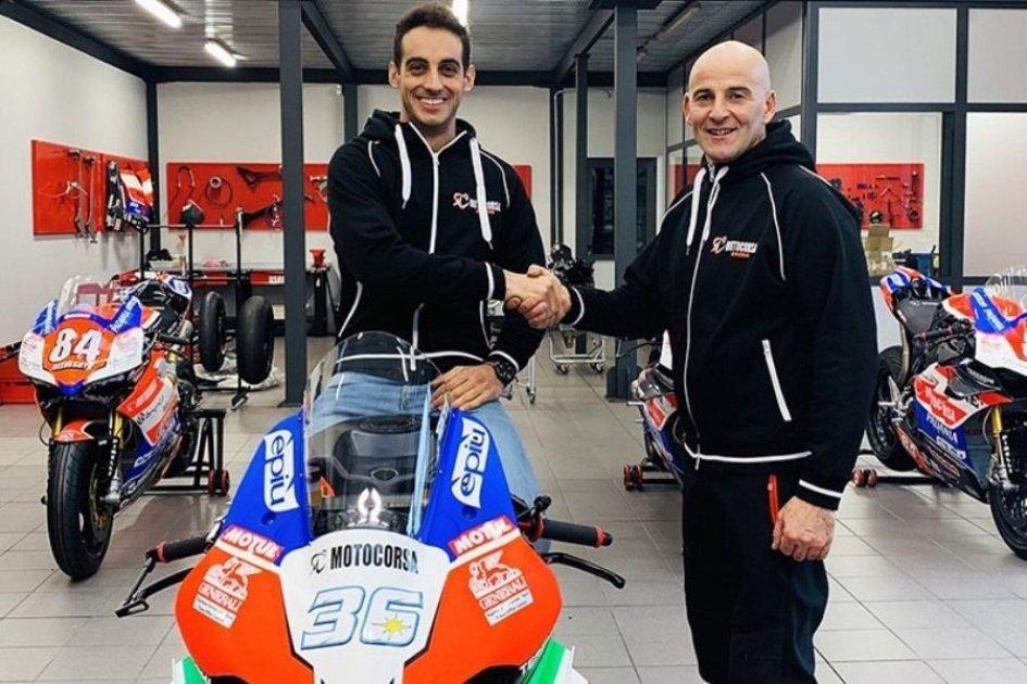 SBK: Leandro Mercado con la Ducati di Motocorsa nel 2020