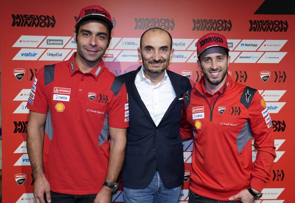 """MotoGP: Domenicali: """"preferisco arrivare secondo che vincere con un solo pilota"""""""