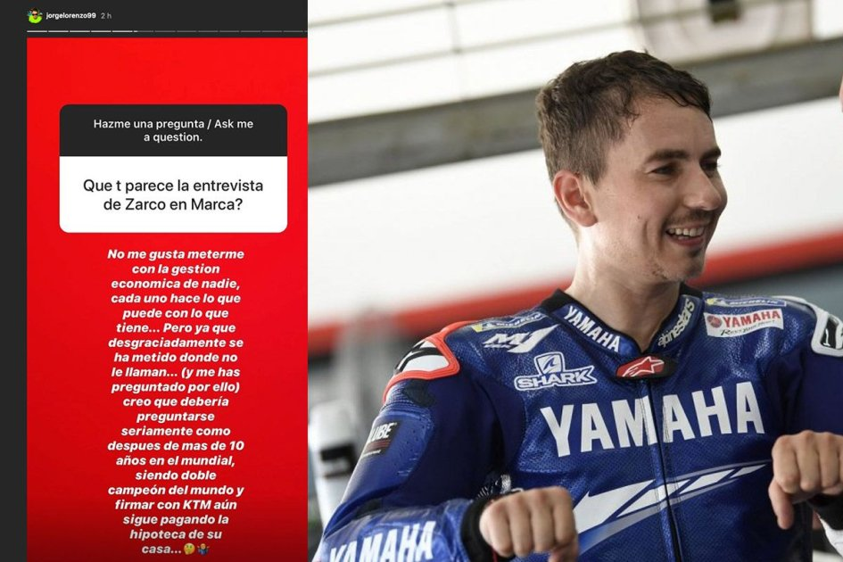 """MotoGP: Lorenzo replies to Zarco: """"A homeless champion? I would ask myself questions …"""""""