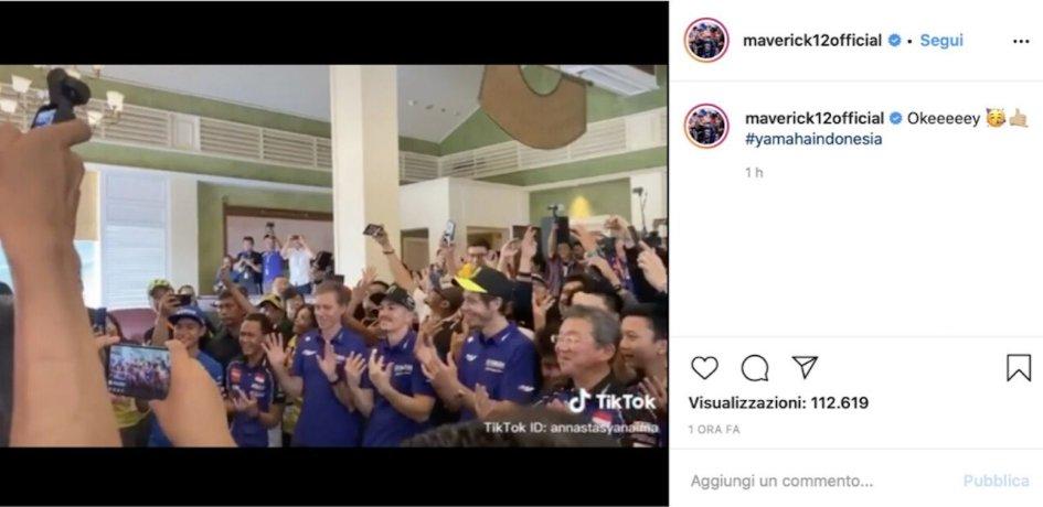 MotoGP: Rossi-Vinales: team building Yamaha con Tik Tok