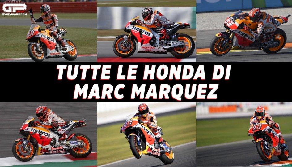 MotoGP: Tutte le Honda di Marc Marquez dal 2013 a oggi, con Rossi nel mirino