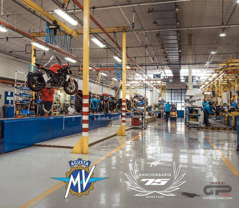 Moto - News: Dopo Ducati, il Coronavirus ferma la produzione anche di MV Agusta