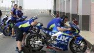 Ultime verifiche alla Suzuki sotto lo sguardo di Alex Briggs e Brent Stephens