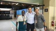 MotoGP: Quartararo incontra Kipchoge, l'uomo più veloce del mondo, ad Abhu Dabi