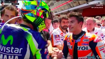 Rossi batte Marquez ed è Re di Spagna
