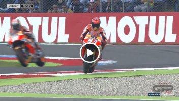 Marquez 'prova' il taglio della 'variante Rossi'