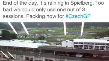 The rain interrupted the tests at the Red Bull Ring