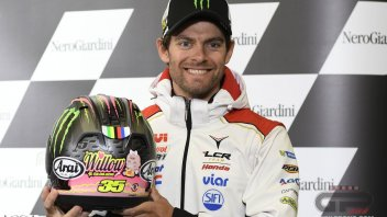 Crutchlow: a helmet for his little Willow