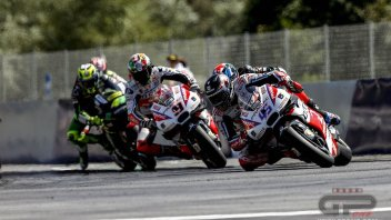 Petrucci penalised for contact with Laverty