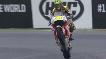 Cal Crutchlow follows Barry Sheene