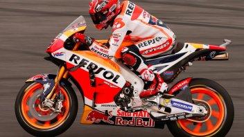 WUP: Marquez primo con caduta, 2° Rossi