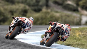 Marc Marquez closes-in on Pedrosa