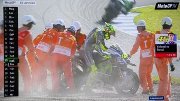 Rossi and Lorenzo crash at Motegi, Marquez is champion!